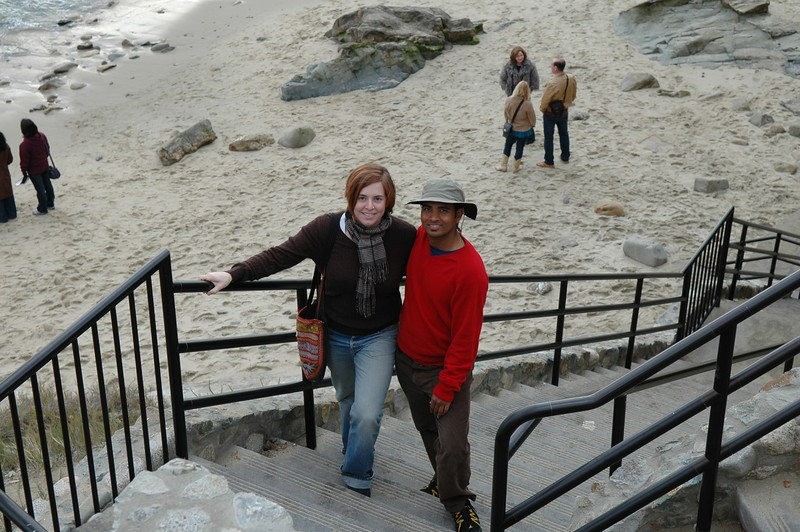 Cheryl and Dilip at Laguna Beach