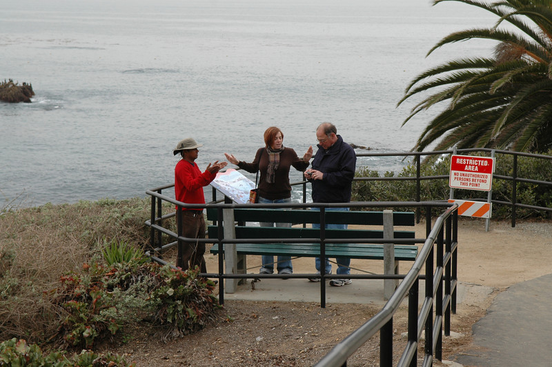 Dilip, Cheryl and Stan on the water front in Laguna Beach