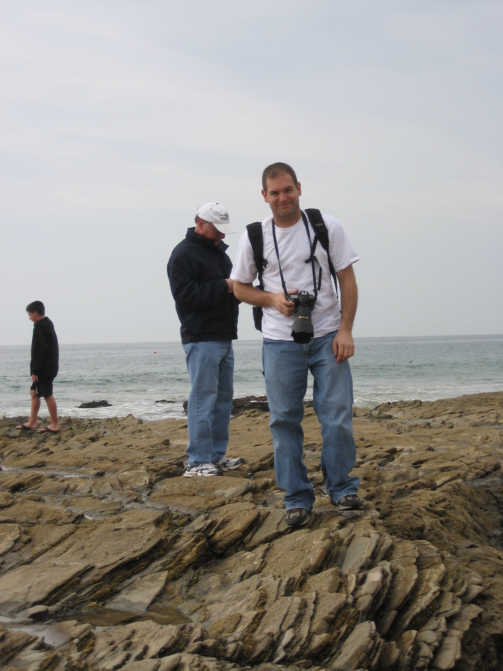 Stan, Jon on crystal Cove beach.