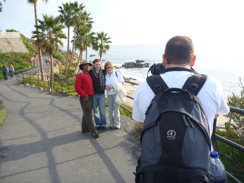 Dilip, Cheryl, Pat, Jon near Laguna Beach