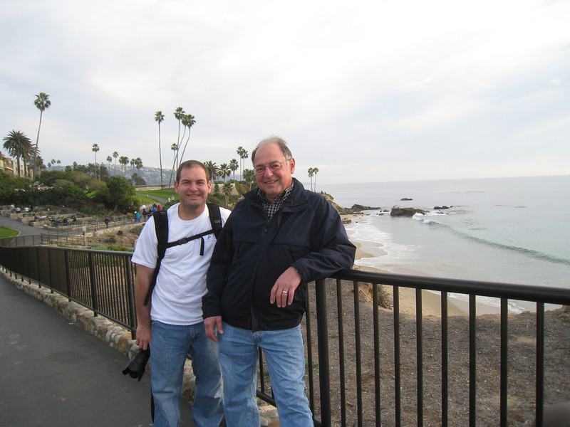 Jon and Stan near Laguna Beach