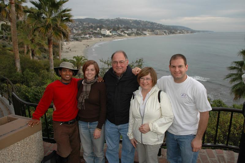Dilip, Cheryl, Stan, Pat, Jon at Laguna Beach