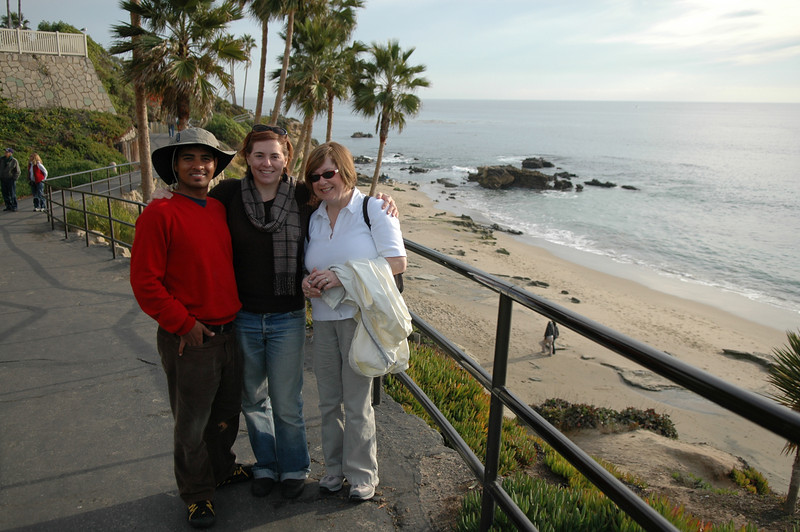 Dilip, Cheryl, Pat near Laguna Beach