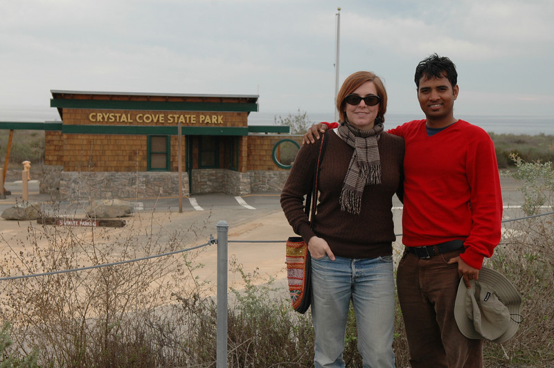 Cheryl and Dilip at Crystal Cove State Park