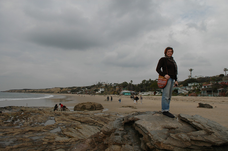 Cheryl at Crystal Cove beach