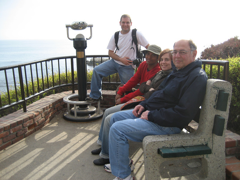 Jon, Dilip, Cheryl, Stan at Laguna Beach