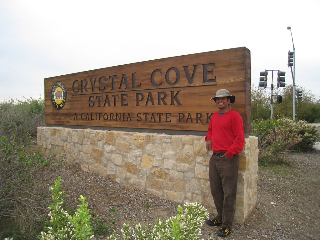 Dilip at Crystal Cove State Park.