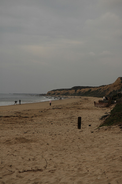 The beach in Crystal Cove state park