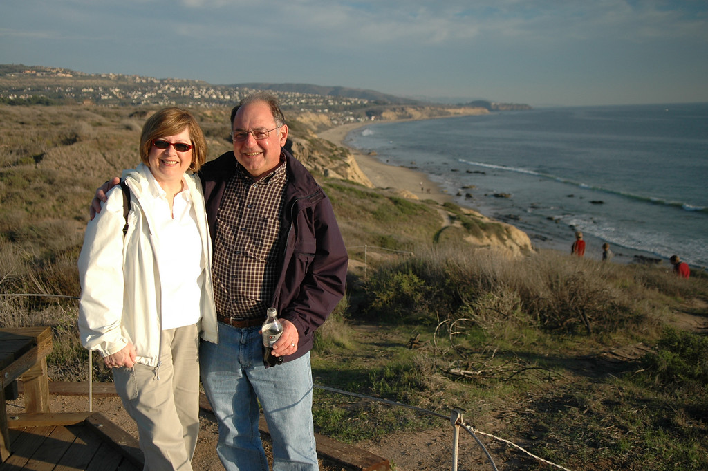 Pat and Stan at Crystal Cove State Park