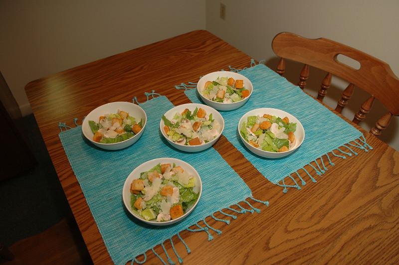 Christmas dinner salad.