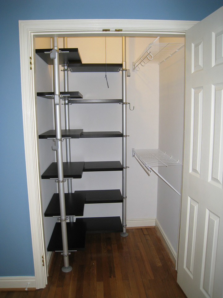 2/27/2009 - master closet with shelving.