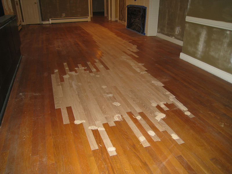 1/28/2009 - Replaced Hardwood Floors where the stains were