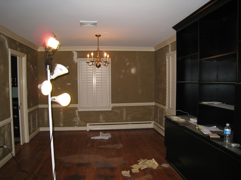 1/12/2009 - Refinishing the dining area.