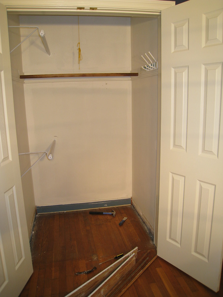 1/17/2009 - Before picture of the closet in the master bedroom