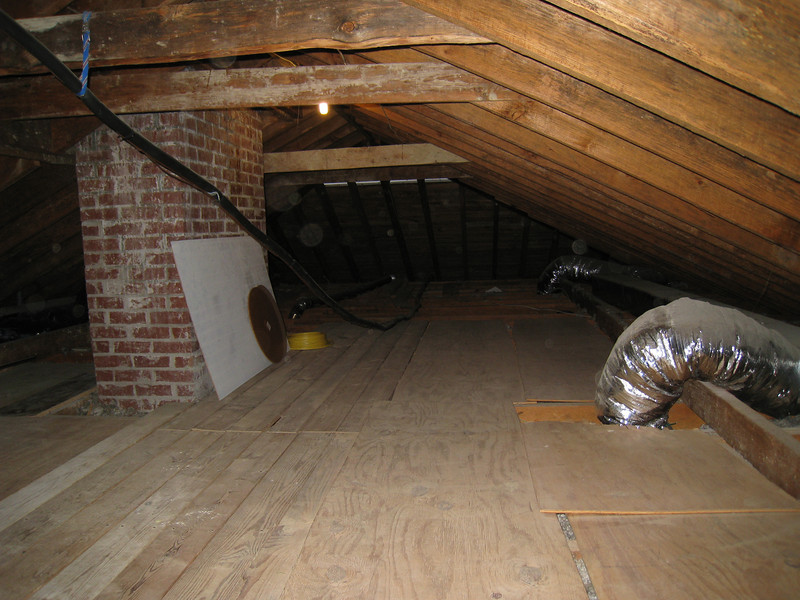 4/10/2009 - Before picture of the attic looking south