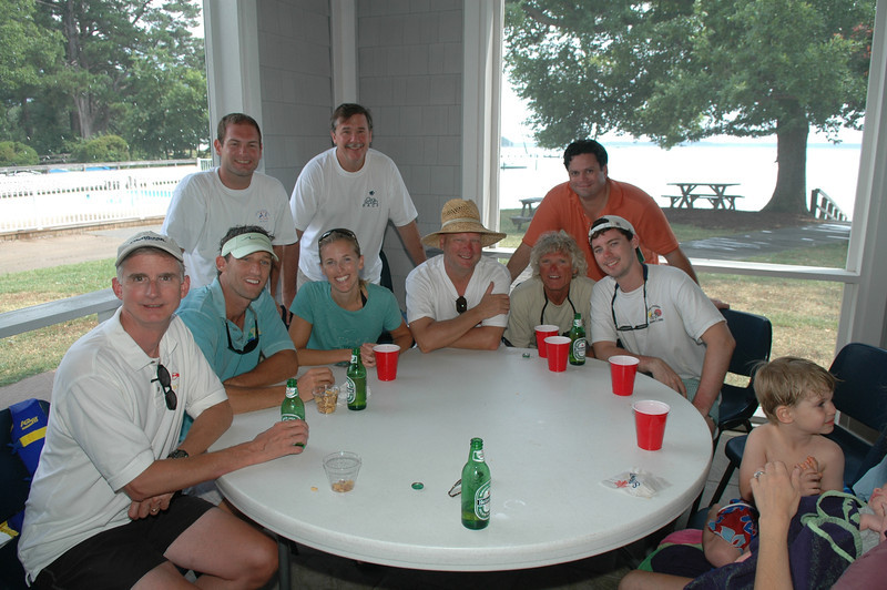 7/12/2009 - FBYC Leukemia Cup Regatta - Wavelength Crew - Stuart Gregory, Chris Schmidt, Jon Deutsch, Melanie Polouze, Rob Whittet, Michael Schmidt, Mike S, Steve Utley, John Whittet.