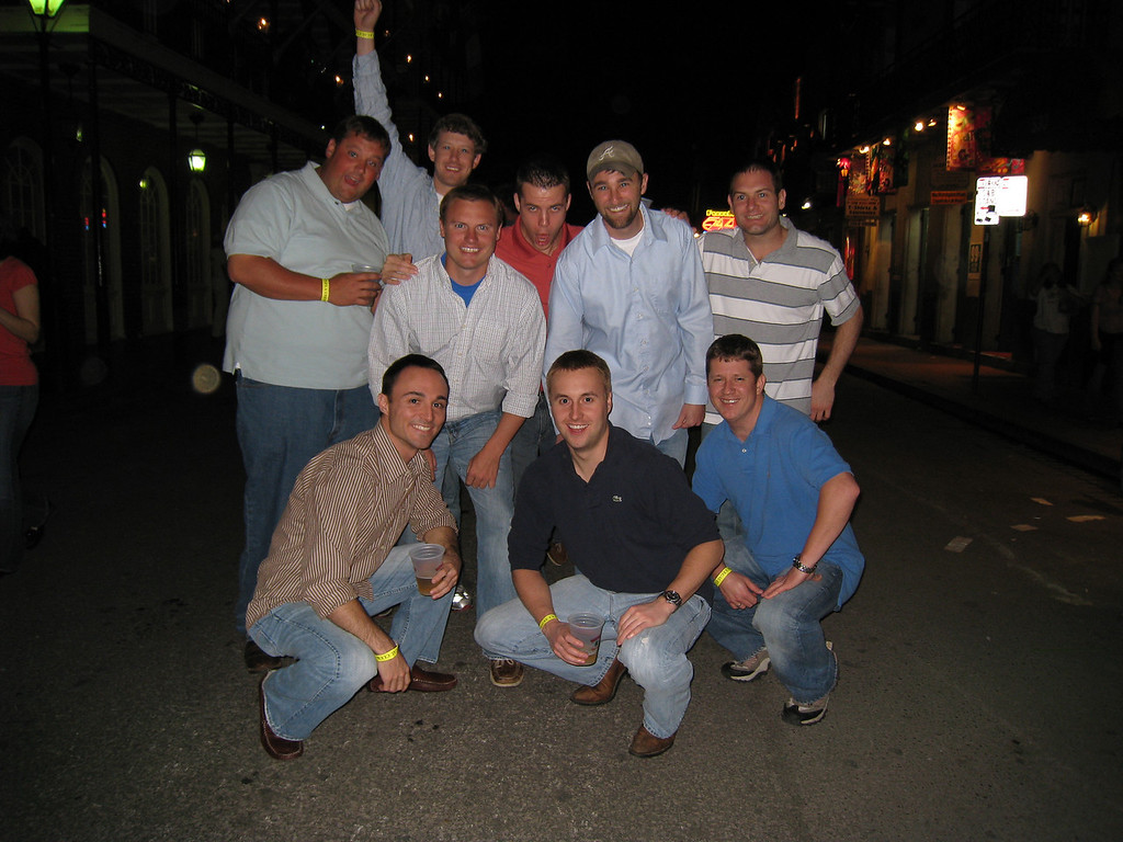 3/21/2009 - New Orleans bachelor party - Ritchie, JG Ferguson, Jon Deutsch, Chris Webster, Chris Bowling, Chris Seate