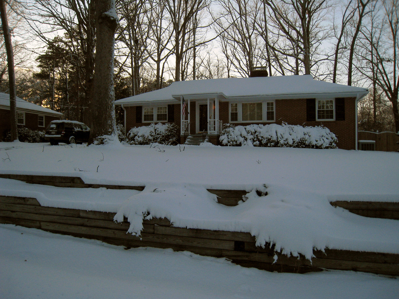 3/2/2009 - first snow at the house.