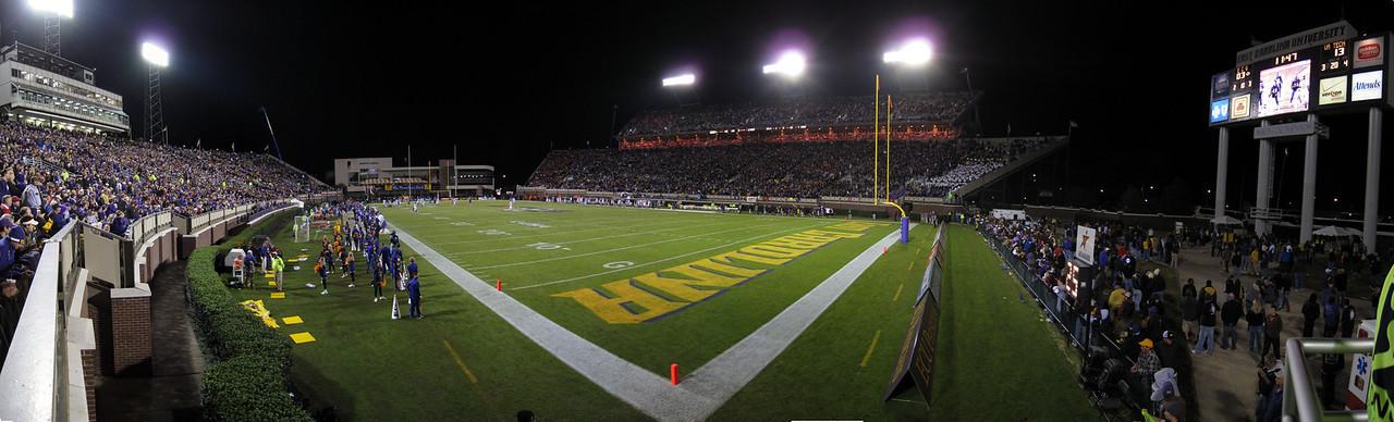 11/5/2009 - ECU vs VT - nighttime panoramic of ECU's stadium.