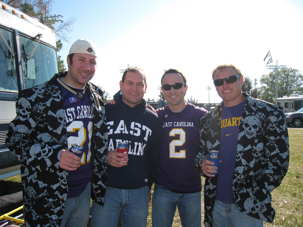 11/28/2009 - ECU vs Southern Miss - Preston Hubbard, Jon Deutsch, Chris Webster, JG Ferguson