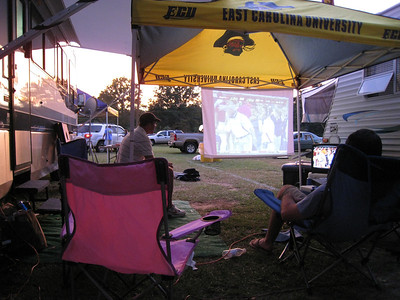 9/5/2009 - ECU Opening Weekend - watching TV after our game.