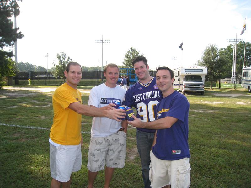 9/5/2009 - ECU Opening Weekend - Jon Deutsch, JG Ferguson, Chris Kennedy, Chris Webster