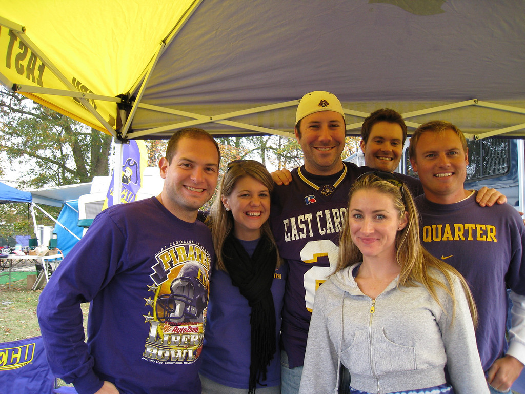 11/21/2009 - ECU vs UAB - Jon Deutsch, Jen Snow, Preston Hubbard, Ken, JG Ferguson