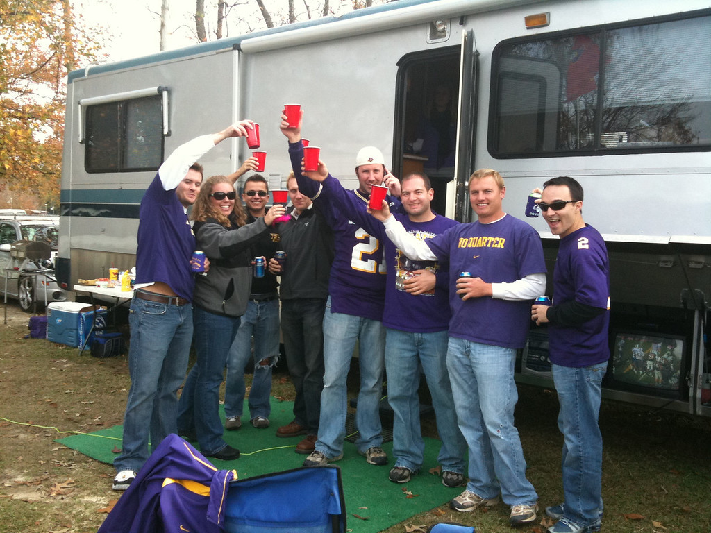 11/21/2009 - ECU vs UAB - Ken, Lauren Ingold, Curtis, Royce, Preston Hubbard, Jon Deutsch, JG Ferguson, Chris Webster