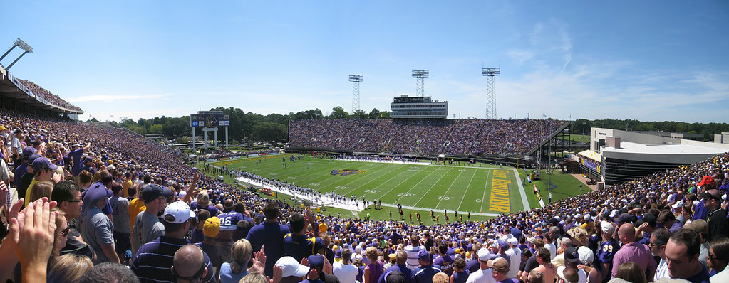 9/5/2009 - ECU Opening Weekend - panoramic of ECU's Dowdy Ficklen stadium