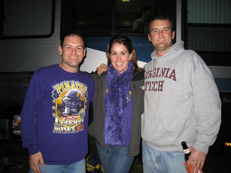 11/5/2009 - ECU vs VT - Jon Deutsch, Beth McChesney, Chris Shoup