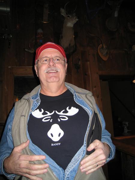 Bill with his moose shirt at the Peekamoose