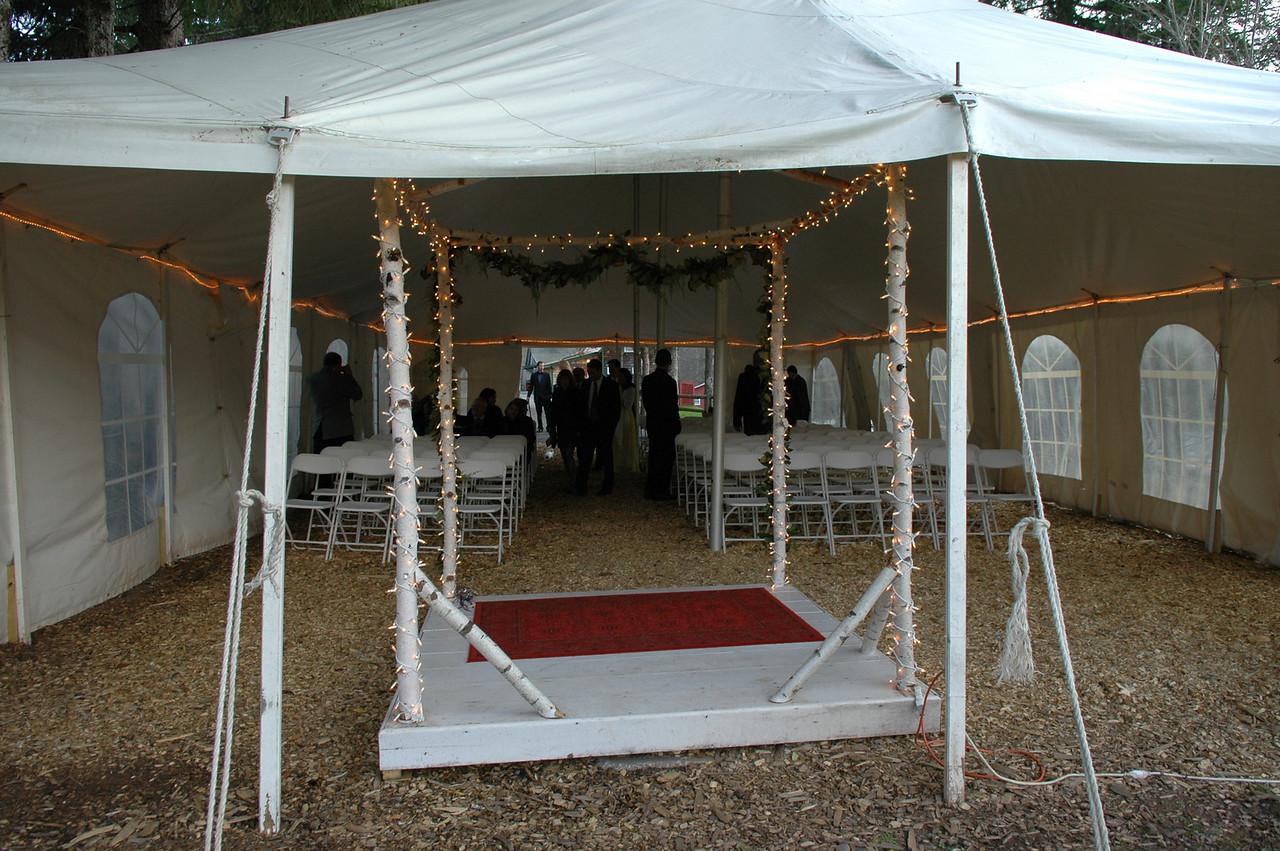 ceremony tent.