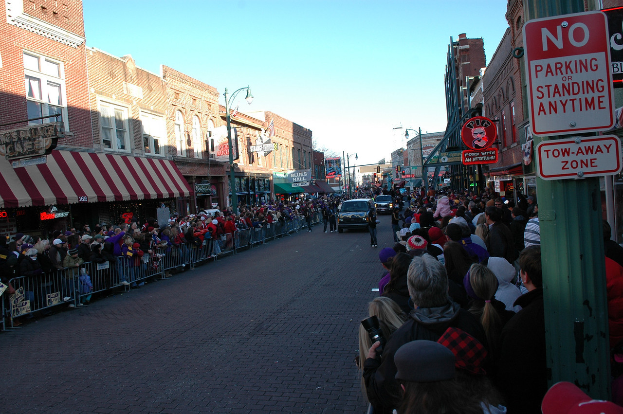 Liberty Bowl Parade on Beale Street