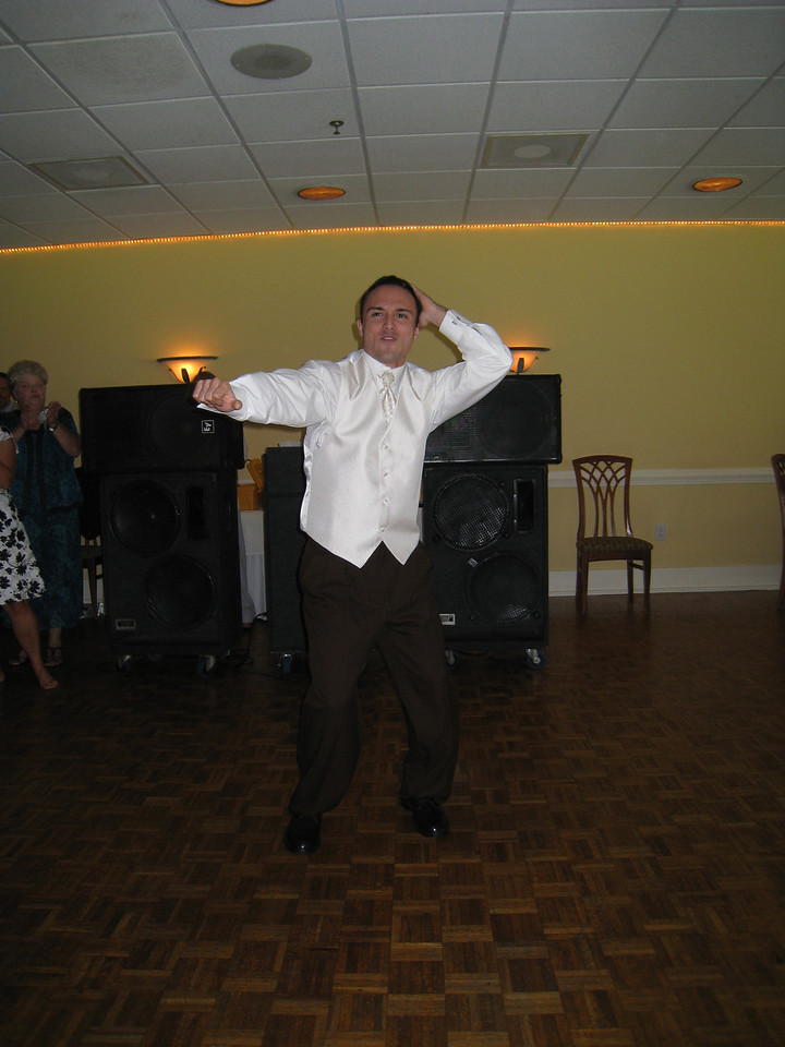 Chris during the dance off