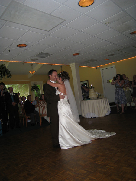 Chris and Heather's first dance.