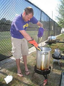10/23/2010 ECU vs Marshall - Chuck frying a turkey