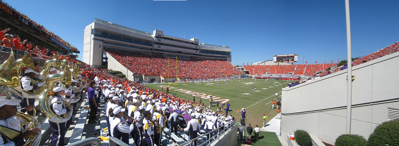 9/18/2010 ECU @ VT - Corner panoramic of Lane Stadium