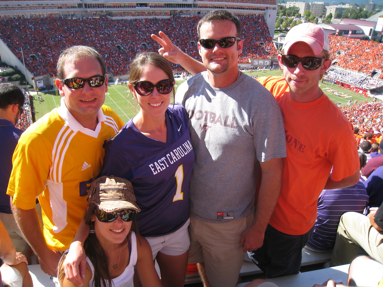9/18/2010 ECU @ VT - Jon, Sarah, Beth, Chris