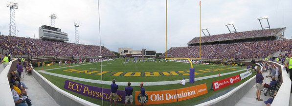 9/11/2010 - ECU vs. Memphis - End zone panoramic
