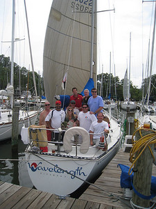 7/10/2010 - FBYC Leukemia Cup Regatta - Wavelength Crew - Michael Schmidt, Melanie P, Anton, Ed, Chris S, John W, Steve U, Rob Whittet, Jon Deutsch