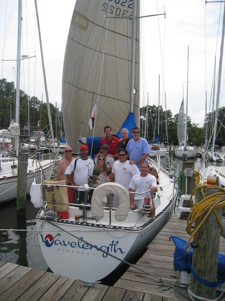 7/10/2010 - FBYC Leukemia Cup Regatta - Wavelength Crew - Michael Schmidt, Melanie P, Anton, Ed, Chris S, John W, Steve U, Rob Whittet, Jon Deutsch