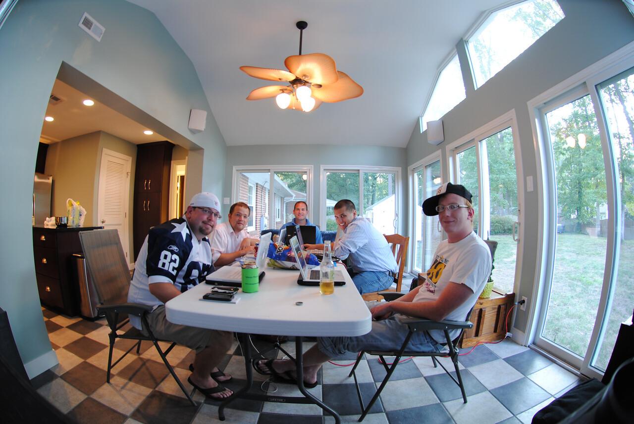 9/7/2010 Fantasy Football draft - Jesse, Phil, Jon, Ryan, Steven
