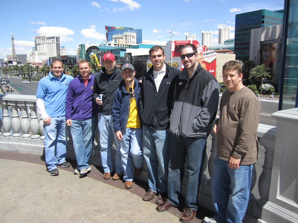 4/8/2011 - JG's Vegas Bachelor Party - Jon, JG, Chris B, Chris W, Tom, Preston, Chris S
