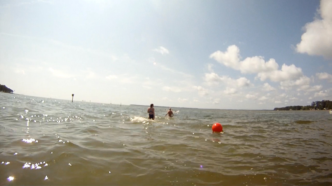 Swimming across the channel