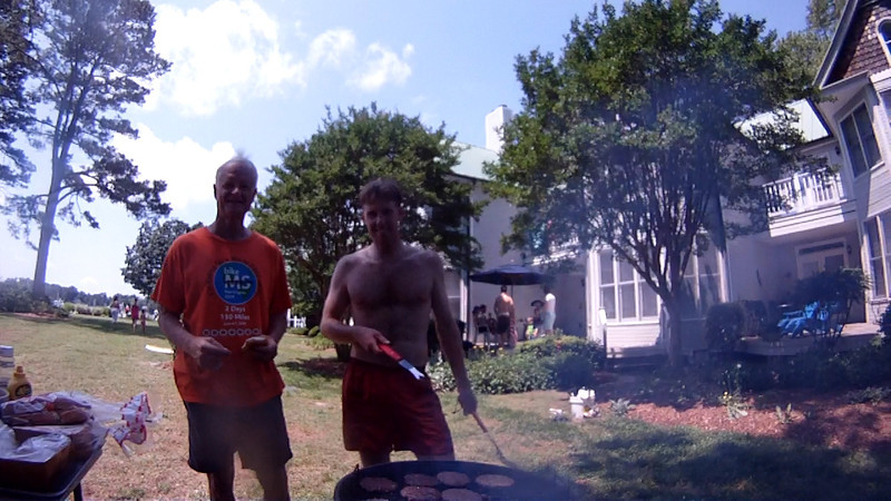 after-race cookout.