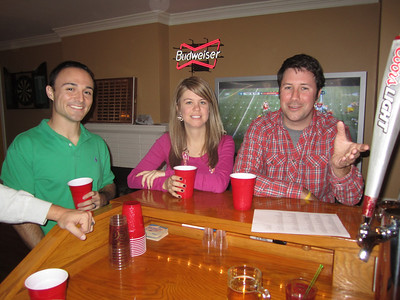 Chris, Jen and Preston at the bar