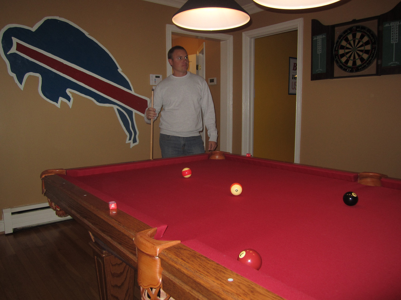 JG at the pool table