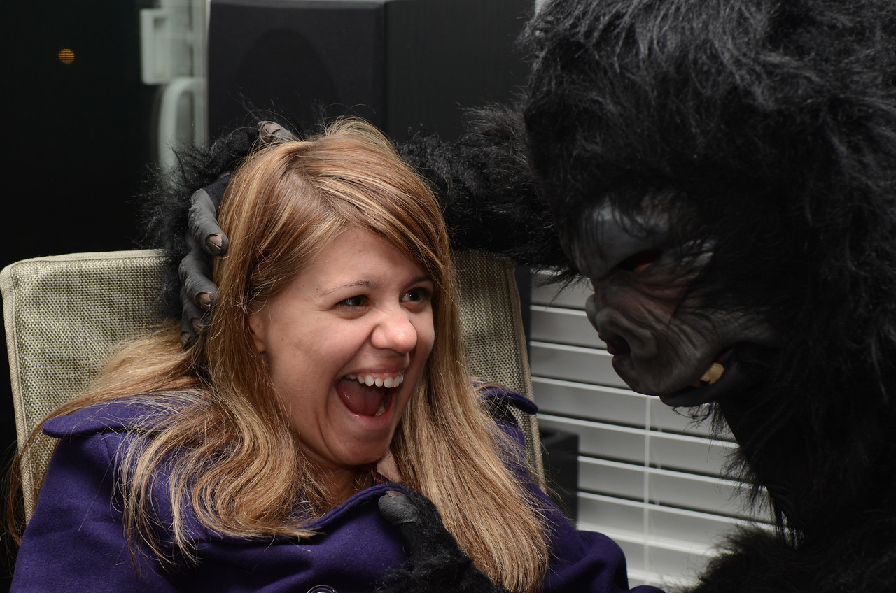Jen and Preston the Gorilla