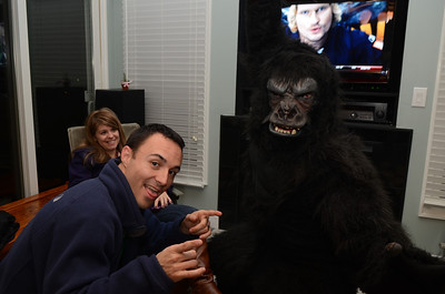 Jen, Chris and Preston the Gorilla