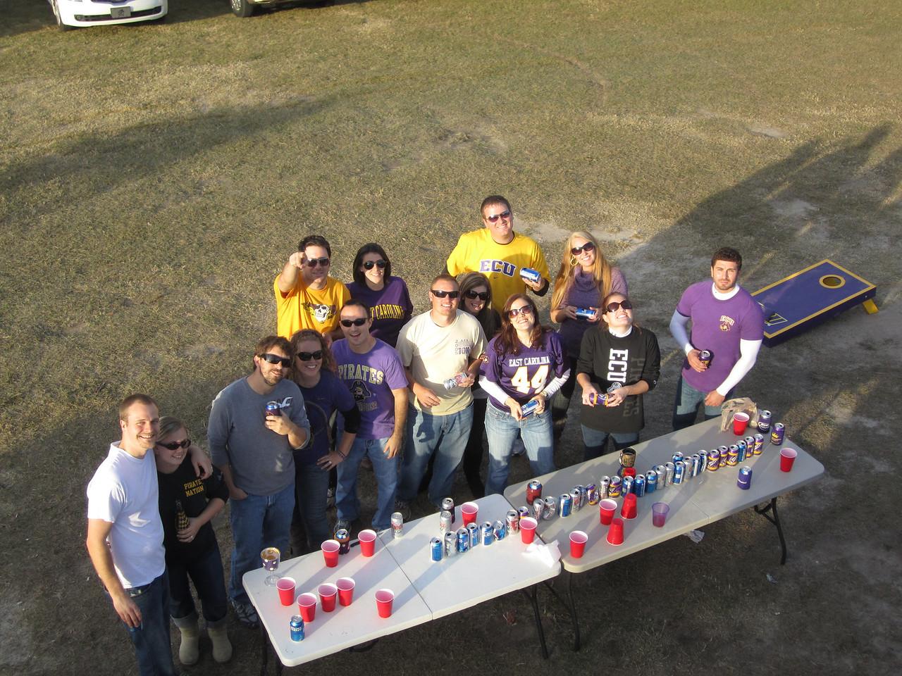 11/19/2011 ECU vs University of Central Florida - Flip cup game